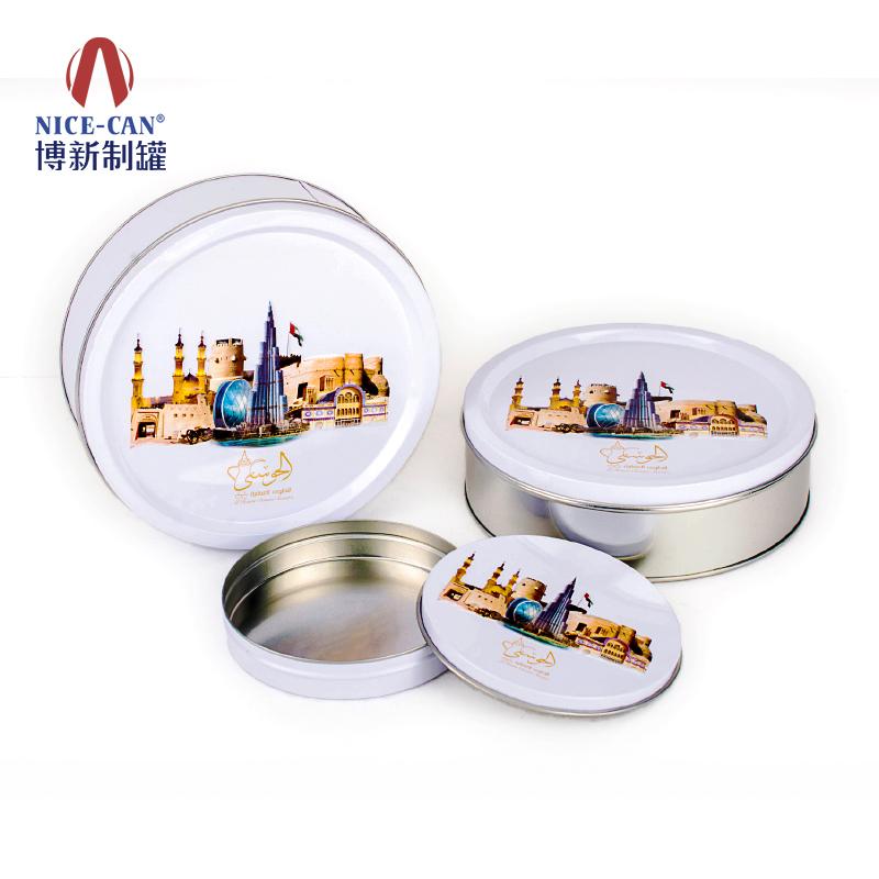饼干铁盒|圆形通用铁盒|马口铁盒子 NC2706-003