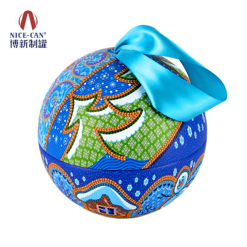 圣诞节礼品球罐|糖果铁盒包装|球形铁盒 NC3247-005