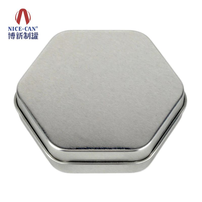 饼干包装铁盒|月饼铁盒|六角形包装铁盒 NC3296-H20光油无设计