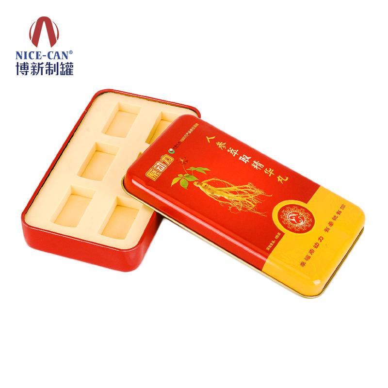 保健品铁盒|马口铁保健品盒|方形保健品铁盒 NC2254-011