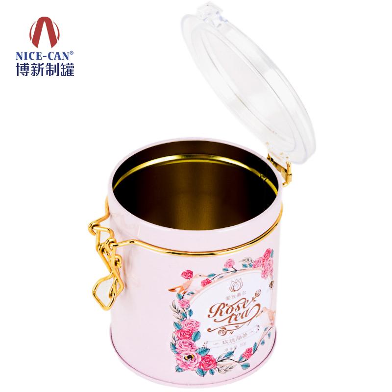 花茶铁罐|茶叶铁罐|玫瑰花茶铁罐|圆形铁罐 NC2590C-009