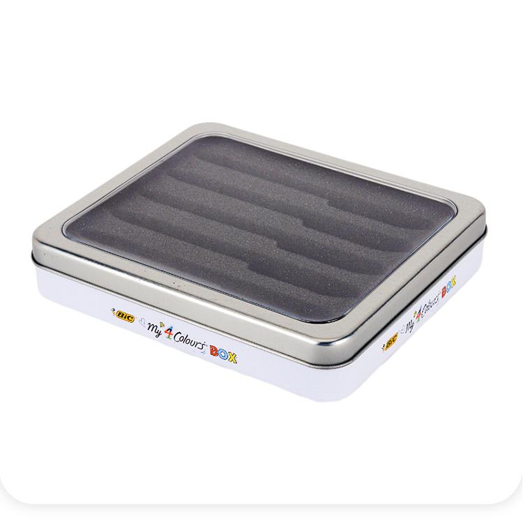 开窗铁盒|保健品开窗铁盒|长方形开窗铁盒 NC3171A-001