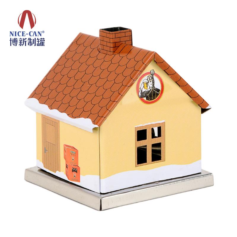 铁酒盒包装|食品铁盒|异形铁盒|房子形状铁盒 NC2946-007