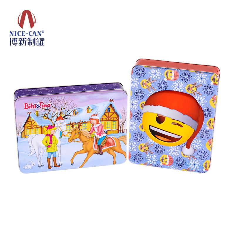 圣诞礼品铁盒|长方形铁盒|饼干铁盒包装|圣诞马口铁盒 NC2423BH