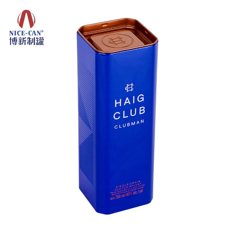酒铁罐|红酒铁罐|长方形铁罐|酒罐包装|酒铁罐包装 NC2703-002