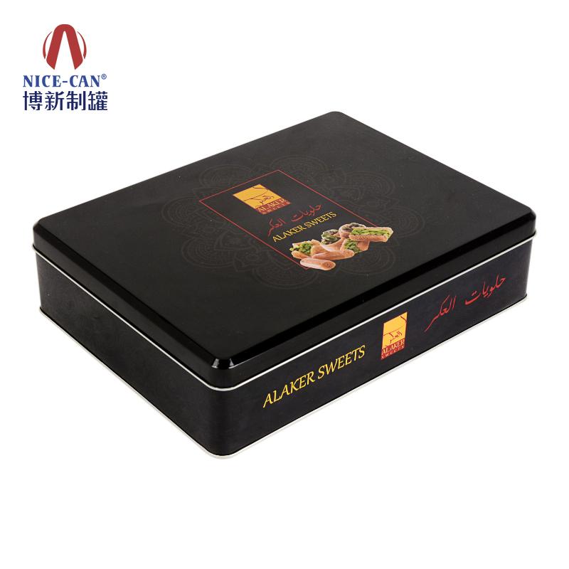 金属饼干盒包装|饼干铁盒包装定制|正方形铁盒包装|马口铁饼干盒 NC2935-003