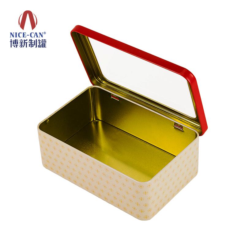 通用开窗铁盒|食品铁盒包装|方形包装铁盒|饼干铁盒 NC2111-024