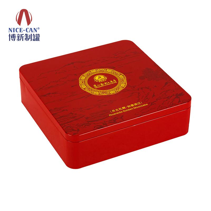 铁盒月饼盒|月饼铁盒 方形|月饼铁盒礼盒|马口铁月饼盒 NC3174-016