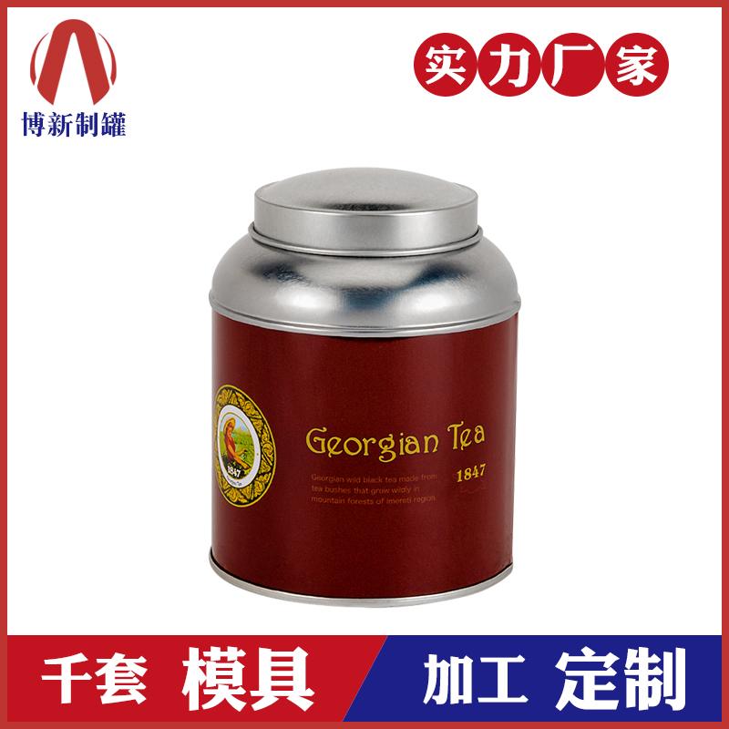 茶叶罐制作-双盖茶叶铁罐
