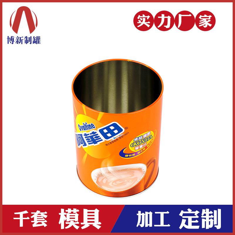 奶茶马口铁罐-圆形马口铁罐包装