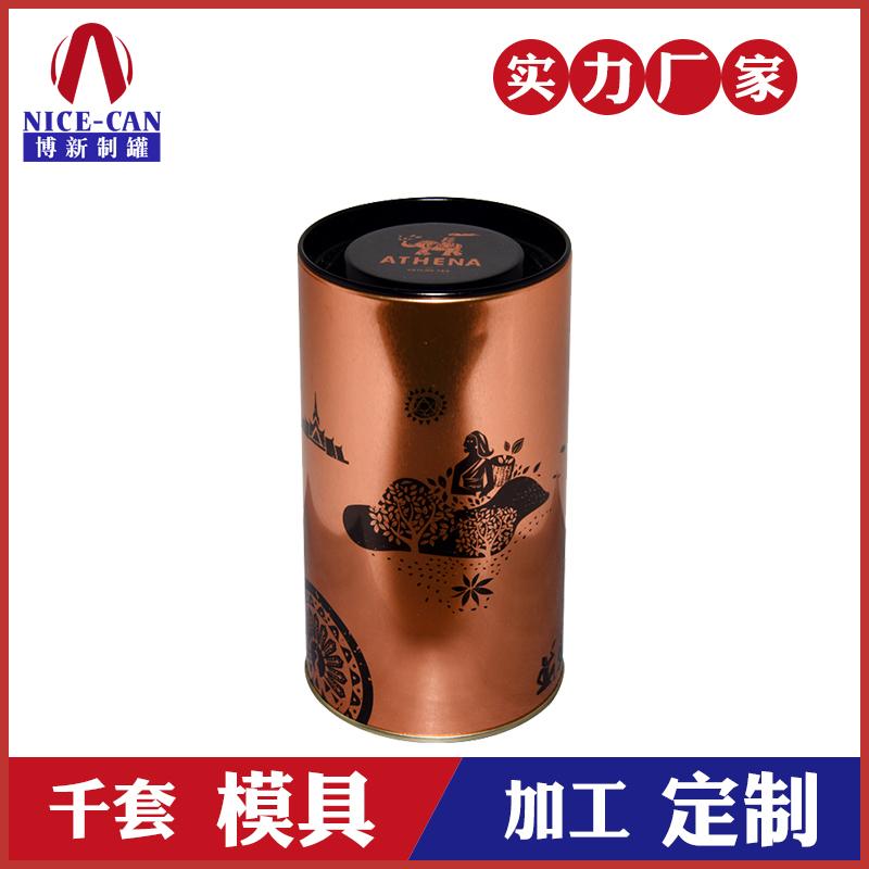 礼品茶叶罐-小号圆形茶叶铁罐