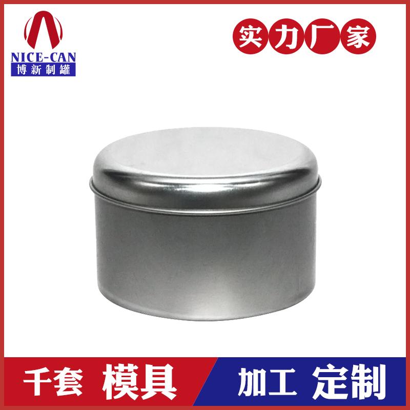 圆形白铁铁盒-无印刷铁罐