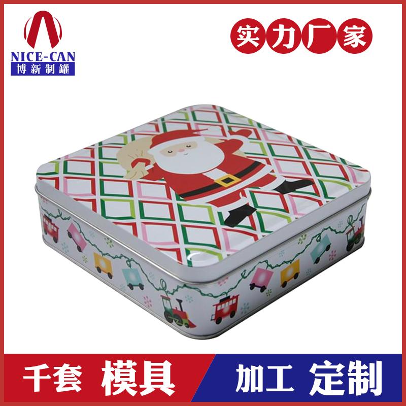 方形铁盒包装-圣诞老人铁盒