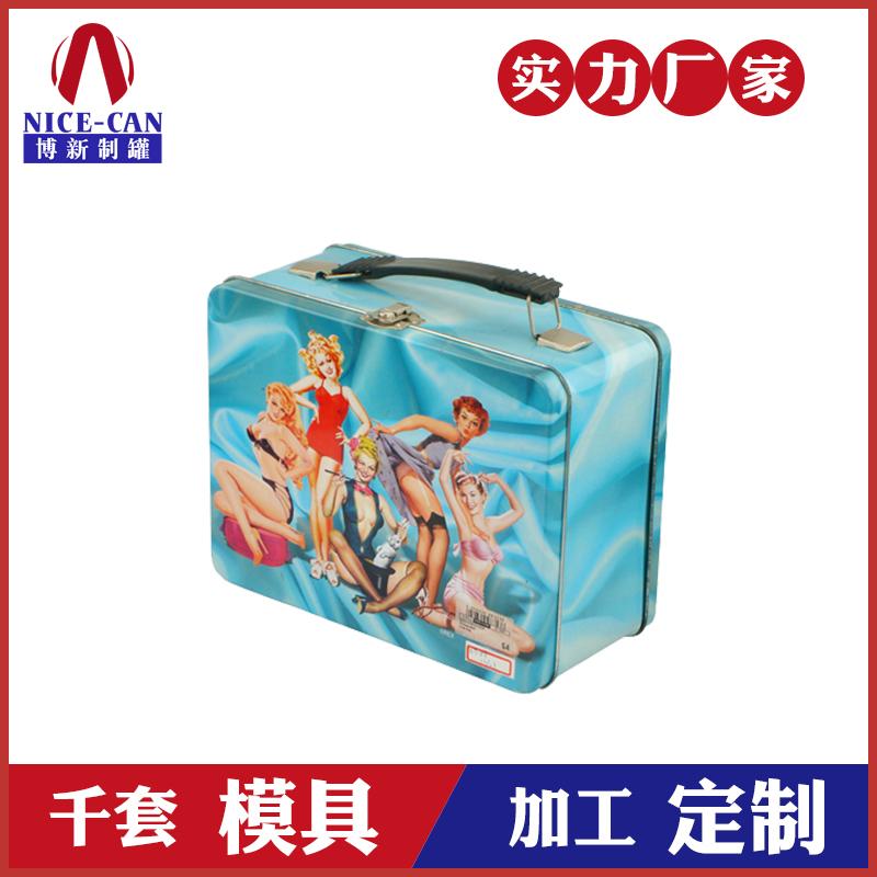 手提糖果铁盒包装-带锁食品铁盒