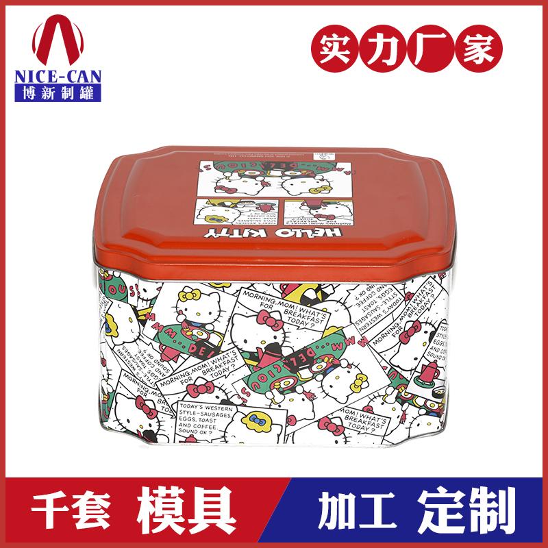 八角糖果铁罐-卡通礼品铁盒包装定制
