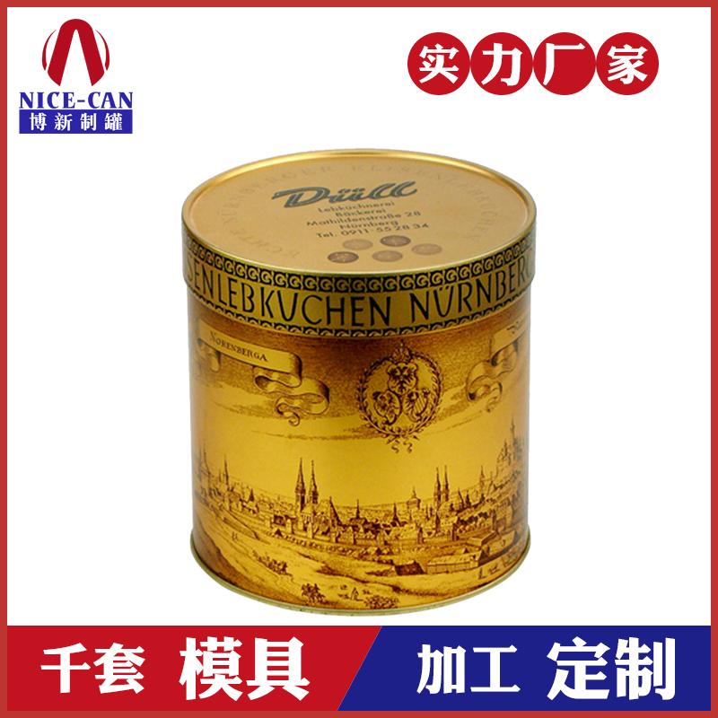 食品铁罐-圆形马口铁罐定制