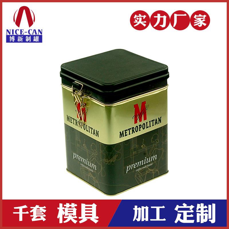 咖啡食品铁罐-方形马口铁密封罐