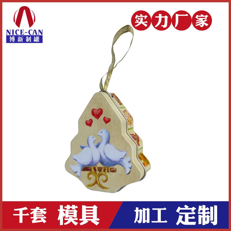 圣诞节礼品盒-马口铁糖果树罐定制