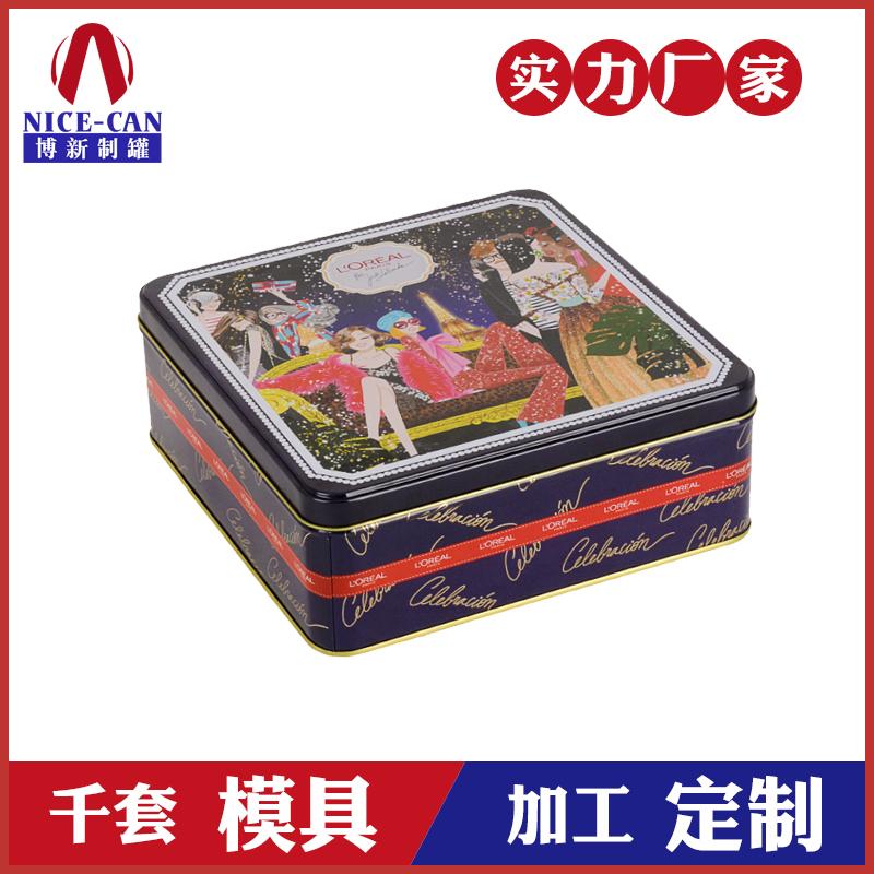 方形马口铁盒-饼干包装铁盒